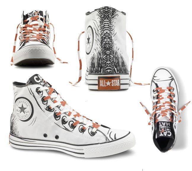 The Dr. Seuss Chuck Taylor Collection for kids and adults from Converse.