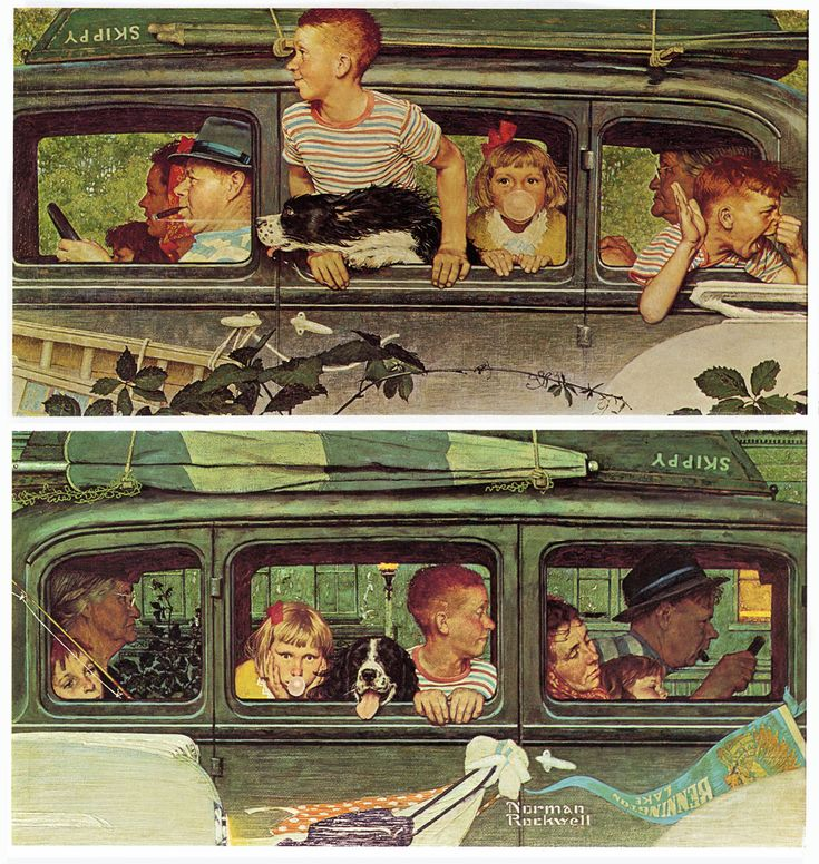 Norman Rockwell (it sims like this was taken out of my childhood. )