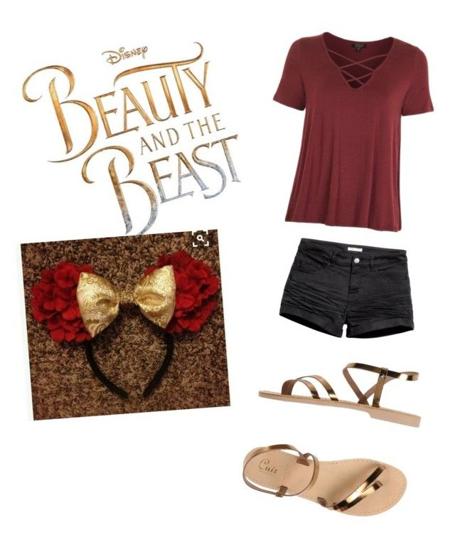"""""""Belle Outfit for Disney World"""" by kh-bug on Polyvore featuring Disney, Topshop and Cuir"""
