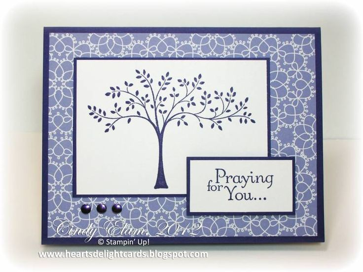 handmade sympathy card ... Ideas for Thoughts and Prayers by Stampin' Up!
