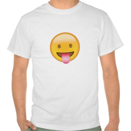 Face With Stuck Out Tongue Emoji T-shirts