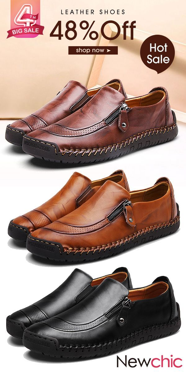 2a1c29c0b4b6a 【Shoes Collection】Shop Now--Mens Soft Leather Sandals /Loafers Shoes#mensfashion  #menswear #shoes