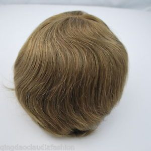 light brown hairpiece for men Swiss lace bleached mens human hair toupee stock  | eBay
