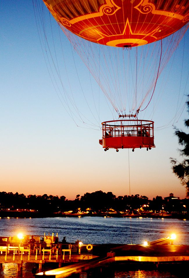 Hot Air Balloon over Orlando, Florida..So cool you can look over Downtown Disney on a clear day!