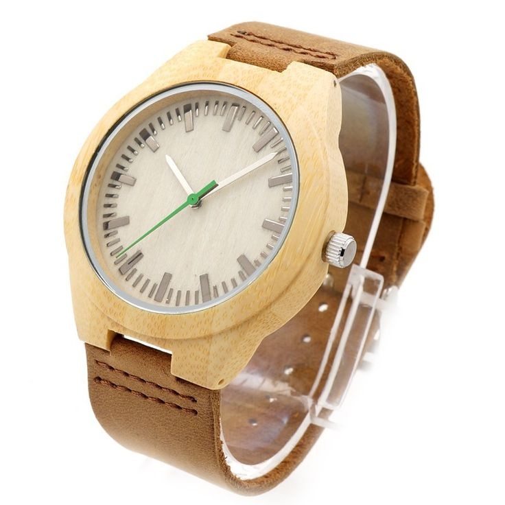 Fashion Casual Luxury Men's Women's Watch Bracelet Wood Quartz Wrist Watches Soft Genuine Band