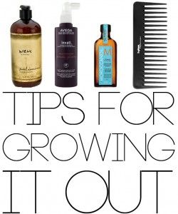 Great tips for growing out, HEALTHY hair. Need to remember!