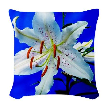 #Lily001 #Woven Throw Pillow #JAMFoto #Cafepress.com