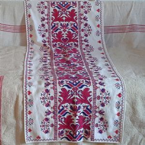Hand cross Stitched Wall Hanging from Transylvania 140 x 55cm-parna