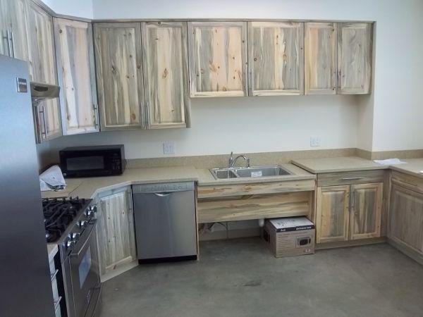 Unique Pine Beetle Wood Cabinets