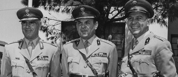 1967. Στυλιανός Παττακός )1912-2016)-Γεώργιος Παπαδόπουλος (1919-1999)-Νικόλαος Μακαρέζος (1919-2009). Πρίν 50 χρόνια.