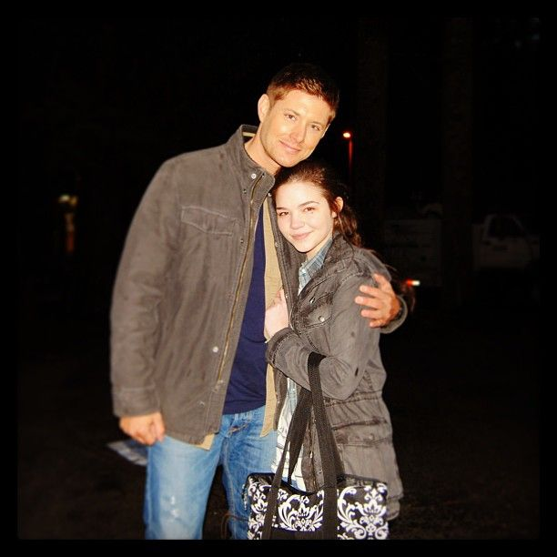 Jensen Ackles and Madison McLaughlin behind the scenes