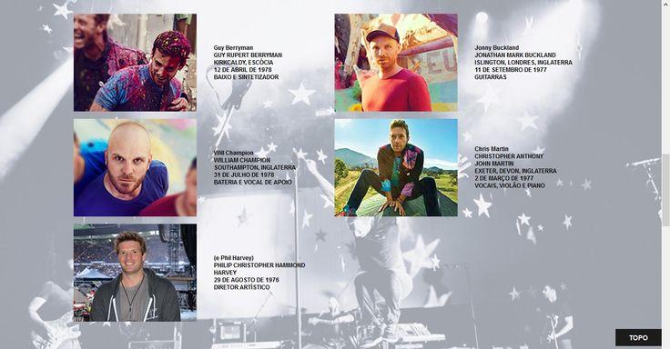 Site sobre a banda Coldplay - Integrantes.