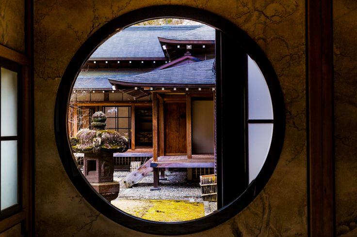 https://flic.kr/p/F1wRun | Looking through a round window | Shot at Nikko Tamozawa Imperial Villa.