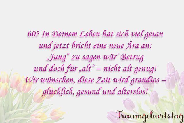 Geburtstagswünsche Frau Zum 60 Elegant Gedichte Zum 60 ...