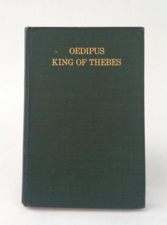 Antique Book Oedipus King of Thebes by Sophocles 1911