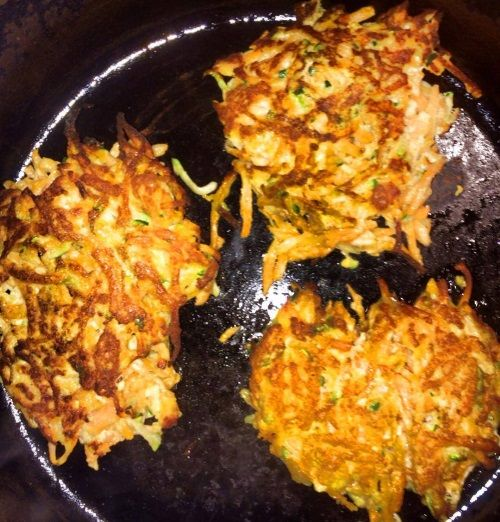 Clean Eating Zucchini and Yam Pancakes #justeatrealfood #shellyheim