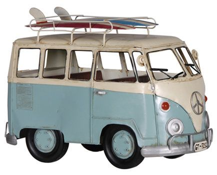 Surfer's VW Van Decoration available from Browsers Furniture Co., Limerick Ireland. https://www.browsers.ie/products/surfer-s-vw-van-decoration?category=home-ornaments&top_category=4