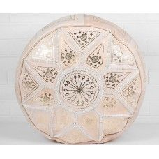 The Natural leather Fez Star pouf.  $169 NZD