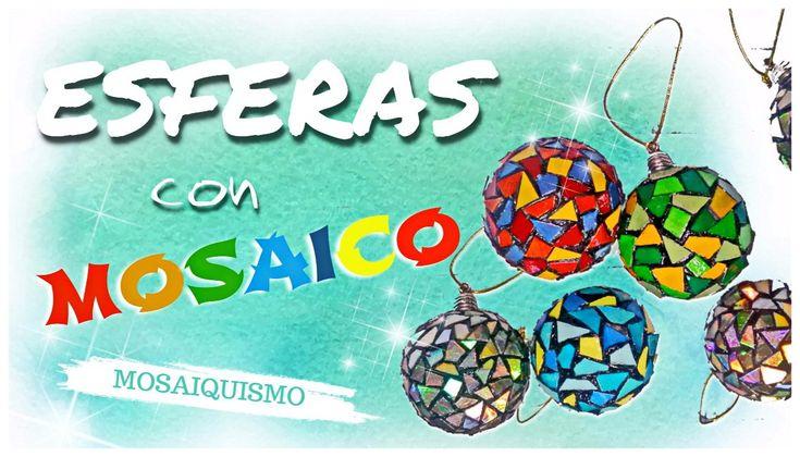 BOLAS CON MOSAICO DE DVD - paso a paso