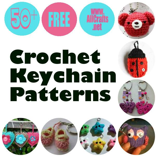 50+ Crochet Key Chains Patterns