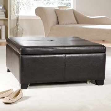 Great storage ottoman/coffee table for the basement.