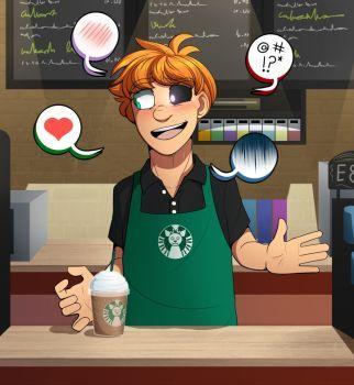 Reject Cutie working at Starbucks