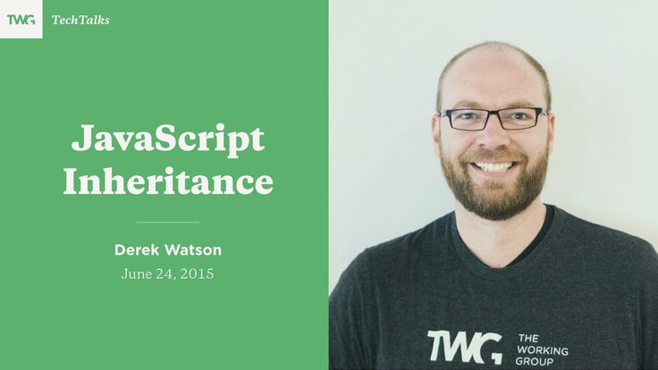 In this hands-on session, Derek Watson, TWG's Director of Engineering, walks through 5 patterns for re-using behaviour between objects in JavaScript. Singleton prototype inheritance, constructor functions, factories, extending objects and ES6-style classes.