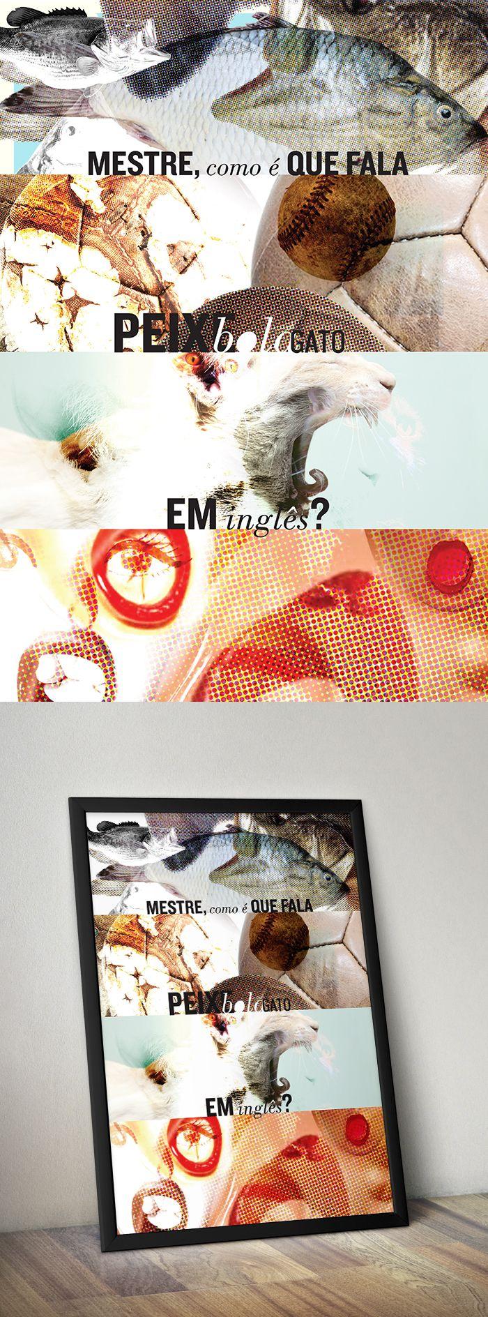 E olha lá mais um! Esse é do Rodrigo Nunes.  #poster #peixebolagato www.s6isdesign.com.br