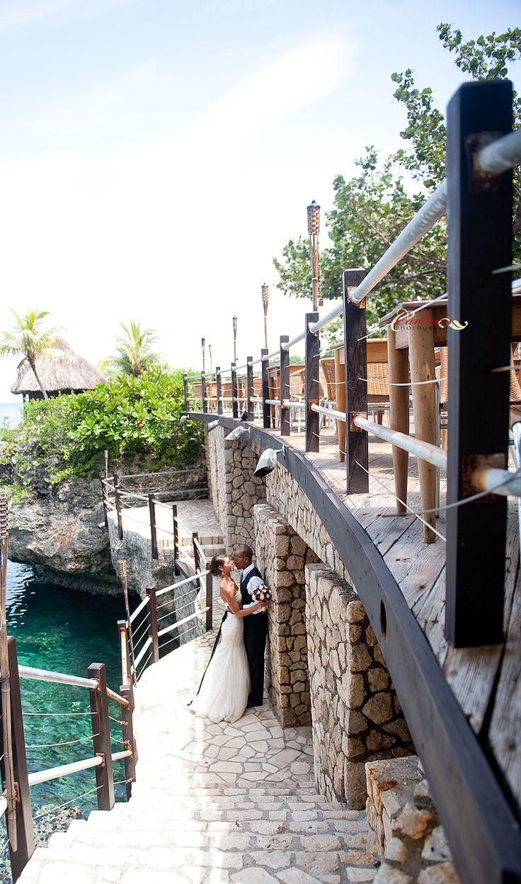 Beach wedding spots  Timothy u Beejel were married in Ochos Rios Jamaica an exotic