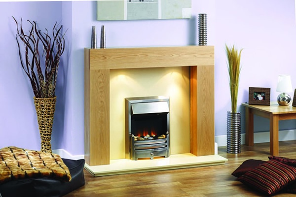 Edge contemporary fireplace