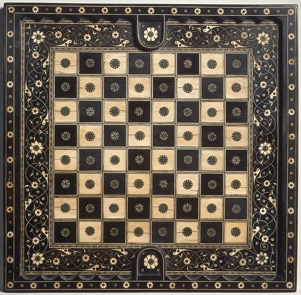 Chess and goose game board