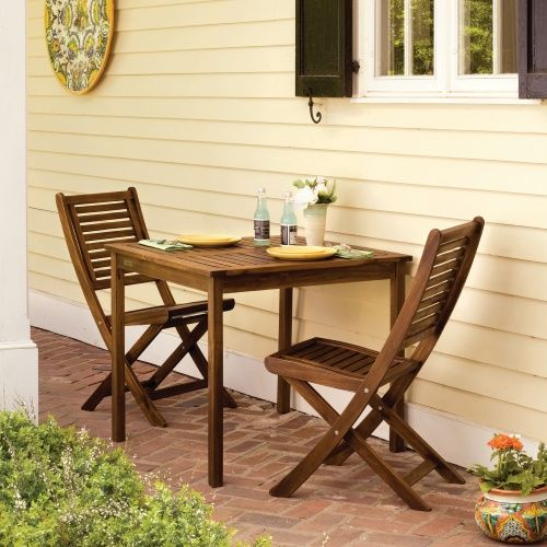 Patio Bistro Set   Enliven Your Patio, Deck Or Outdoor Space With The  Oxford Garden Capri 34 In. Constructed From Durable Acacia Wood, This  Handsome. Part 98