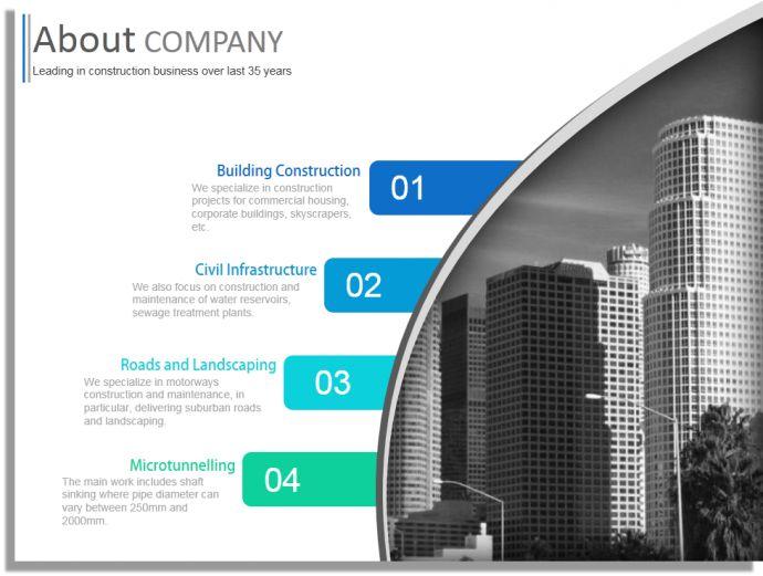 Free Company Profile Template Word Plantilla Revista Sector - free company profile template word