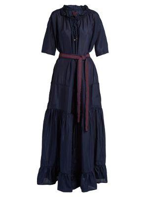 Lola gathered-neck silk maxi dress   Albus Lumen   MATCHESFASHION.COM