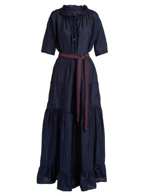 Lola gathered-neck silk maxi dress | Albus Lumen | MATCHESFASHION.COM