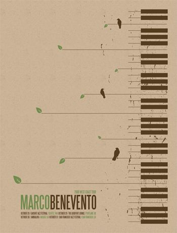 MARCO BENEVENTO WEST COAST TOUR POSTER