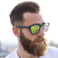 Short Sides Long Top With Beard