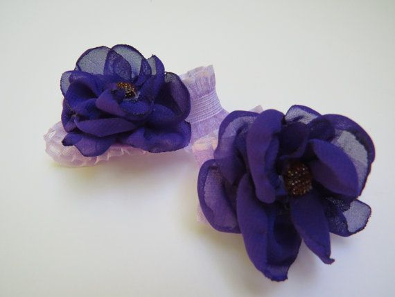 Purple Toe BloomsBarefoot SandalsInfantBabyInfant by BabiesToBows, $10.00