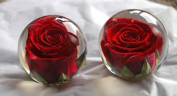 flower paperweights how to make