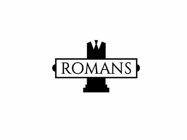 """Logo """"Romans"""" , empresa dedica a la confección y venta de ropa corporativa."""