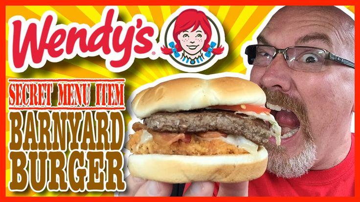 """Wendy's Secret Menu Item """"The Barnyard Burger"""" Review"""