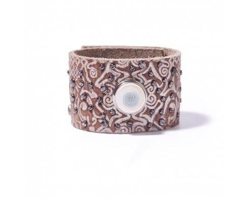 patterns classic cuff - silver - Armbanden - NOOSA-Amsterdam Original collection