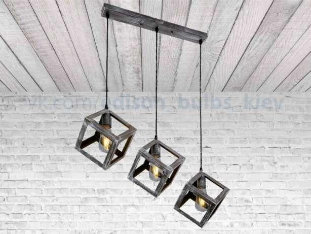 Куб Светильник для кафе, баров в стиле лофт, индастриал лампа Эдисона Киев - изображение 2