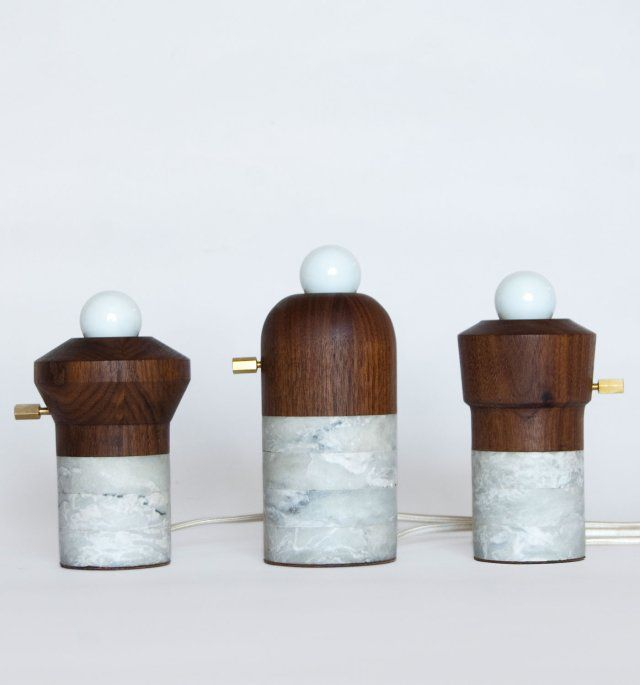 Fort Standard // Industrial Design Studio in New York.: Lamps, Standards Timber, Timber Marbles, Trav'Lin Lights, Marbles Foundation, Products Design, Forts Standards, Design Studios, Foundation Lights