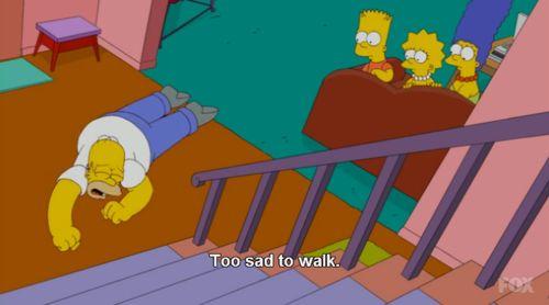 tão triste para andar