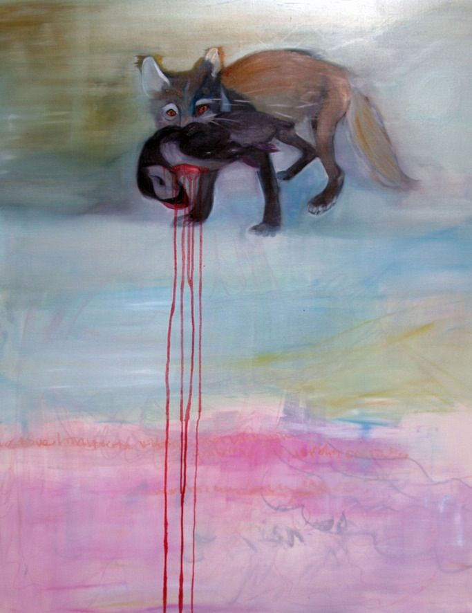 i seems to be hanging, when i tie a shoelace. 112 x 145cm.oil on canvas.2012