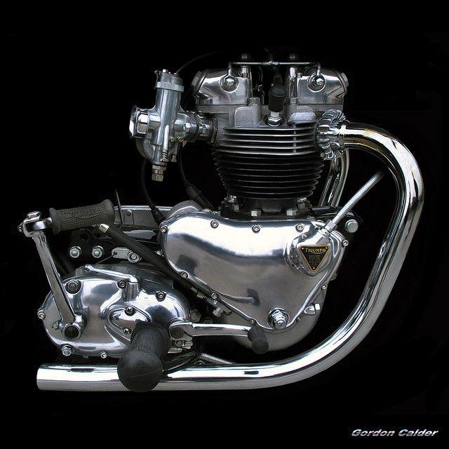 NO 48: CLASSIC TRIUMPH BONNEVILLE T120 - 650cc PRE UNIT MOTORCYCLE ENGINE by Gordon Calder