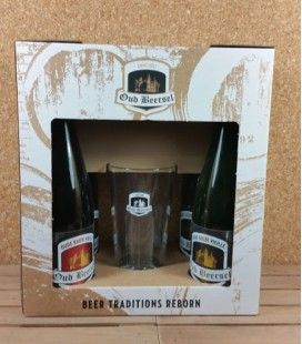 Oud Beersel Oude Geuze/ Oude Kriek Giftbox with lyric glass.