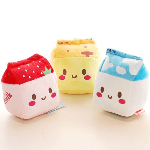Milk Carton Plush Kawaii mini pillow