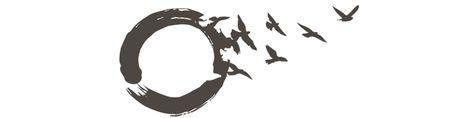 wabi sabi circle with birds tattoo | Zen Buddhist Symbols Tattoos